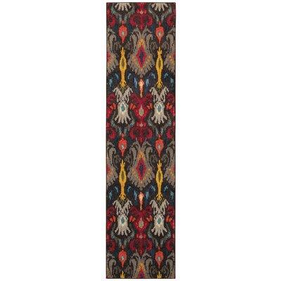 Terrell Tribal Ikat Grey/Multi Area Rug Rug Size: Runner 27 x 10