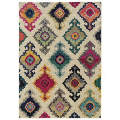 Terrell Tribal Ivory/Multi Area Rug Rug Size: Rectangle 67 x 91