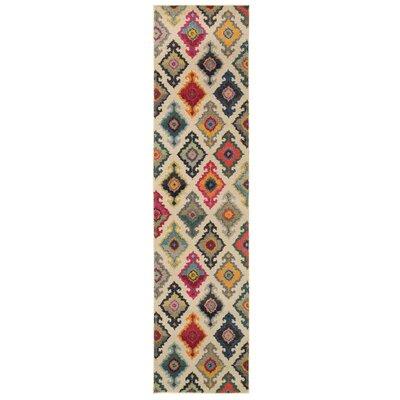 Terrell Tribal Ivory/Multi Area Rug Rug Size: Runner 27 x 10