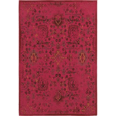 Raiden Pink Area Rug Rug Size: Rectangle 67 x 96