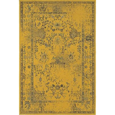 Raiden Gold/Gray Area Rug Size: 910 x 1210