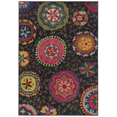 Terrell Grey Area Rug Rug Size: Rectangle 53 x 76
