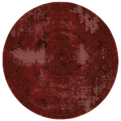 Raiden Garnet Red Area Rug