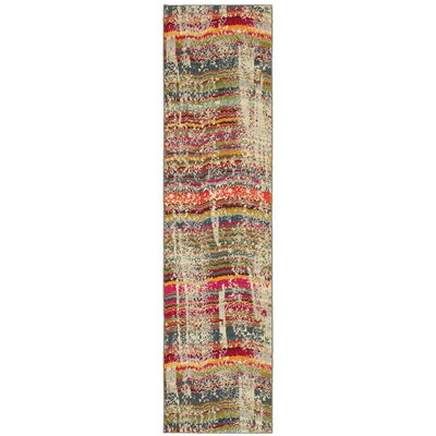 Terrell Red/Brown Area Rug Rug Size: Runner 27 x 10