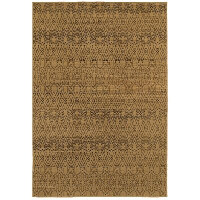 Luciano Beige/Black Area Rug Rug Size: Rectangle 310 x 55