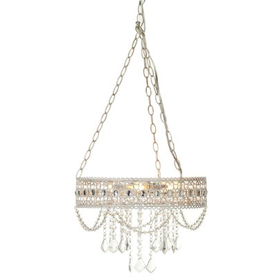 Zaid Hanging Filigree 3-Light Mini Chandelier
