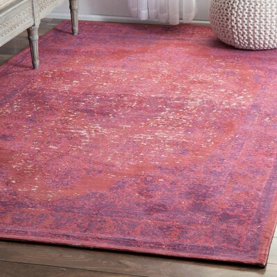 Raine Pink Area Rug Rug Size: Rectangle 4 x 6