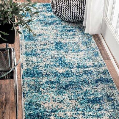 Akshay Vintage Shuler Ocean Blue Area Rug Rug Size: Runner 26 x 8