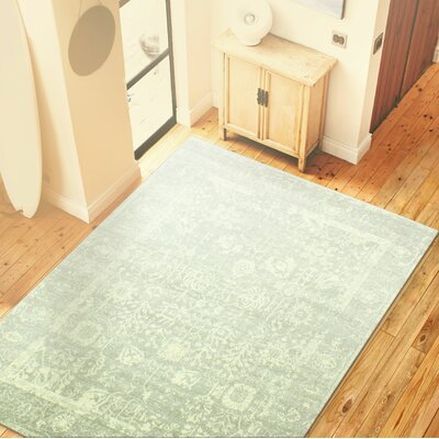 Riendeau Silver Area Rug Rug Size: 36 x 56