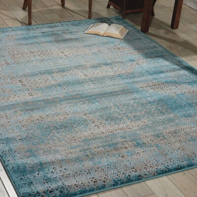 Saliba Blue Area Rug Rug Size: Rectangle 710 x 106