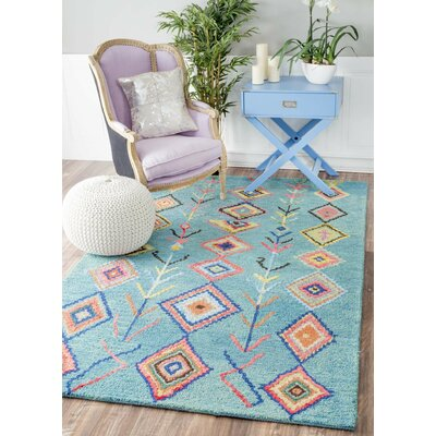 Darvell Hand-Tufted Turquoise Area Rug Rug Size: Rectangle 6 x 9