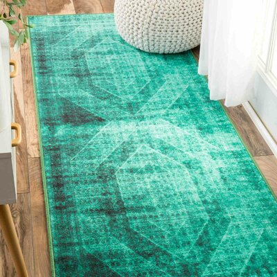 Gaines Turquoise Area Rug Rug Size: 82 x 910