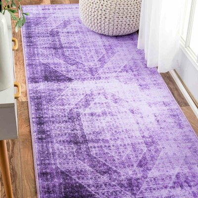 Gaines Purple Area Rug Rug Size: Runner 27 x 8