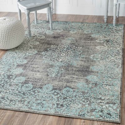 David Blue Area Rug Rug Size: Square 6