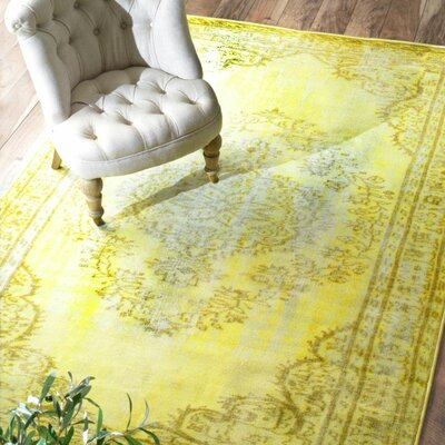 Ahoskie Yellow Area Rug Rug Size: Rectangle 82 x 911