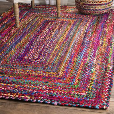 Kistler Hand-Braided Multi Area Rug Rug Size: Rectangle 4 x 6