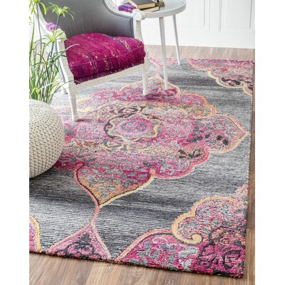 Errouda Hand-Tufted Gray Area Rug Rug Size: 76 x 96