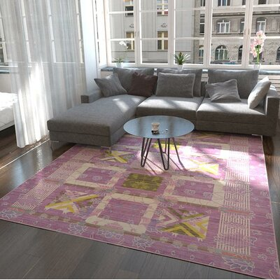 Rune Purple Area Rug Rug Size: Rectangle 5 x 8