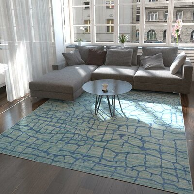 Rune Light Blue Area Rug Rug Size: Rectangle 8 x 10