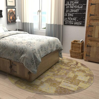 Rune Light Brown Area Rug Rug Size: 5 x 8