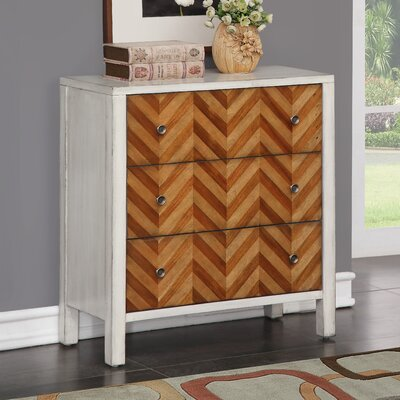 Ila 3 Drawer Standard Chest Bungalow Rose�