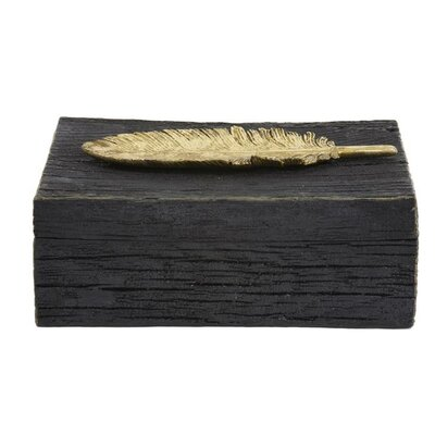 Bungalow Rose Rustic Faux Resin Decorative Box