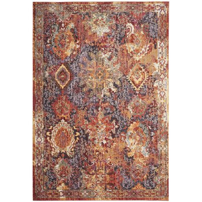 Hays Rust/Lavander Area Rug Rug Size: Rectangle 51 x 76