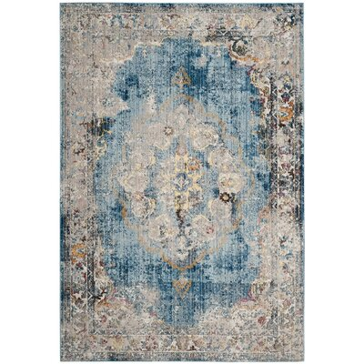 Fitzhugh Blue/Light Gray Area Rug Rug Size: Rectangle 51 x 76