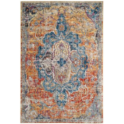 Arapaho Blue/Orange Area Rug Rug Size: Rectangle 6 x 9