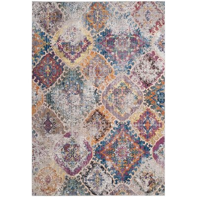 Lusulu Blue/Light Gray Area Rug Rug Size: 51 x 76