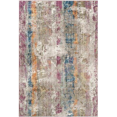 Bantam Beige/Blue Area Rug Rug Size: Rectangle 4 x 6