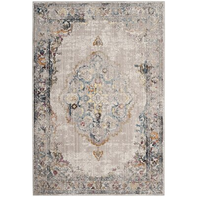 Fitzhugh Light Gray/Blue Area Rug Rug Size: Square 7