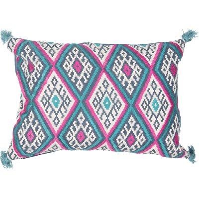 Kymmi Lumbar Pillow Color: Blue