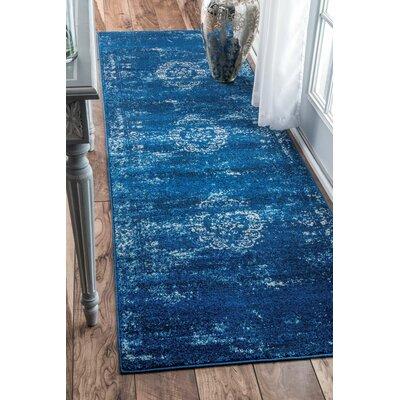 Demetrius Blue Area Rug Rug Size: Runner 28 x 8