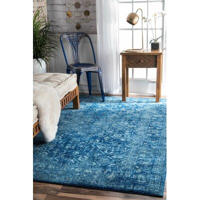 Moses Blue Area Rug Rug Size: 4 x 6