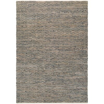 Kaly Natural Hand-Loomed Brown Area Rug Rug Size: 2 x 3