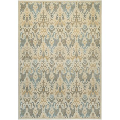 Wooters Desert Sand/Teal Area Rug Rug Size: Runner 27 x 710