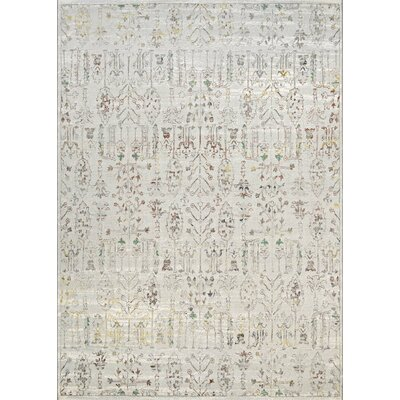 Tamsen Persian Cypress Ocean Sand Area Rug Rug Size: 53 x 76