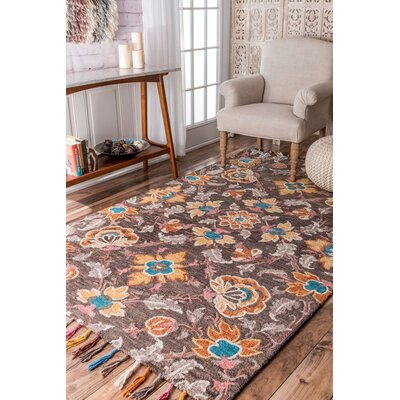 Dexter Hand-Tufted Brown Area Rug Rug Size: 5 x 8