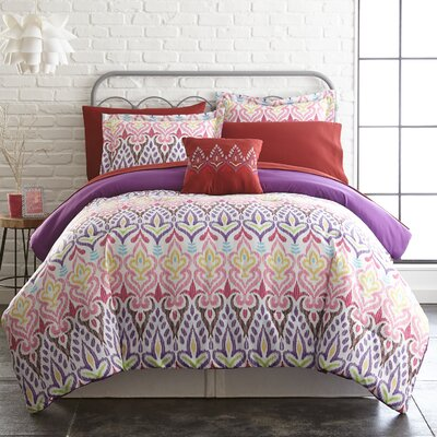 Cayeman Reversible Comforter Set Size: Queen