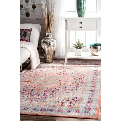Ramon Light Blue Area Rug Rug Size: 53 x 77