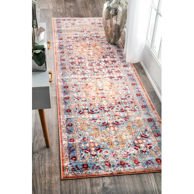 Ramon Light Blue Area Rug Rug Size: Runner 2'6