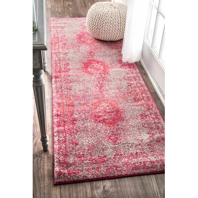 Padilla Pink Area Rug Rug Size: Runner 28 x 8
