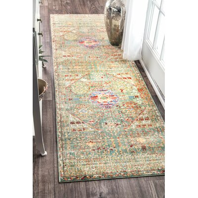 Kieran Green Area Rug Rug Size: Rectangle 9 x 12