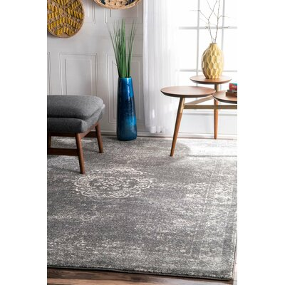 Brodie Gray Area Rug Rug Size: 9 x 12