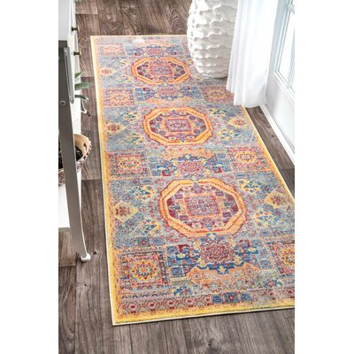 Jaydon Yellow Area Rug Rug Size: Runner 26 x 71