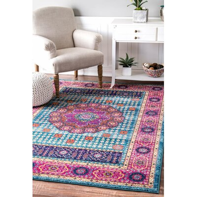 Bungalow Rose Nasir Aqua Area Rug