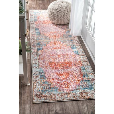 Ernesto Orange Area Rug Rug Size: Rectangle 53 x 77