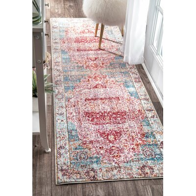 Remington Cherry Pink Area Rug Rug Size: Runner 26 x 8