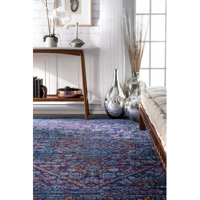 Daveney Purple Area Rug Rug Size: 9 x 12